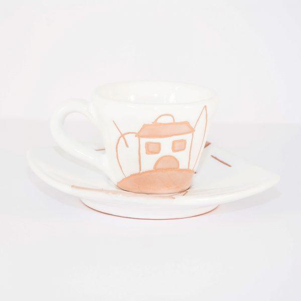 9_tazza caffè a cono naif stilizzato