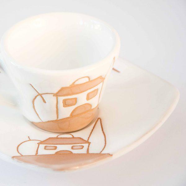 9_tazza caffè a cono naif stilizzato dettaglio